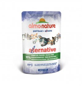 Almo nature gatto alternative hfc con tonno del pacifico da 55 gr in busta
