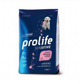 Prolife cane puppy medium large sensitive agnello e riso da 2,5 kg