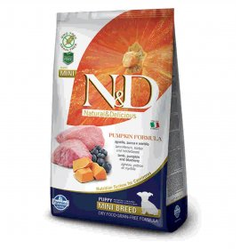Farmina n&d delicious grain free cane puppy mini con agnello zucca mirtillo da 7 kg