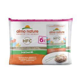 Almo nature gatto classic multipack con filetto di pollo 6 buste da 55 gr