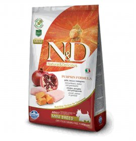 Farmina n&d delicious grain free cane adult mini con pollo zucca melograno da 800 gr