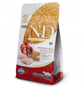 Farmina n&d delicious low grain gatto adult con pollo melograno da 1,5 kg
