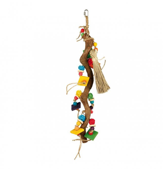 Trixie gioco naturale per volatili in legno 56 cm