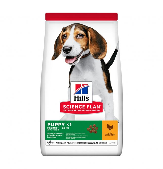 Hill's science plan cane puppy medium pollo da 2,5 kg