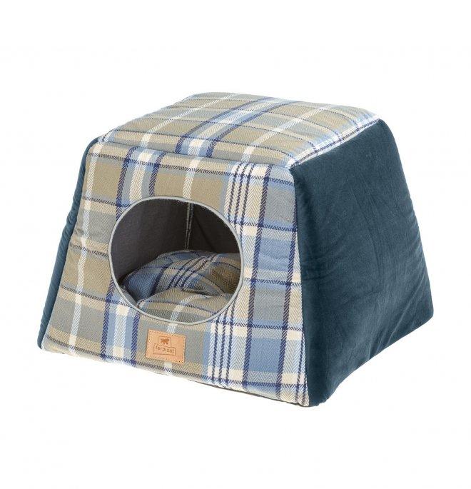 Ferplast cane e gatto casetta edinburgh 44 x 44 x h 33 cm blu