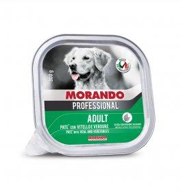 Morando miglior cane professional pate' con vitello e verdure da 300 gr in vaschetta