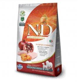 Farmina n&d delicious grain free cane adult medium & maxi con pollo zucca melograno da 12 kg