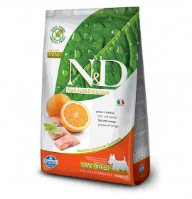 Farmina n&d delicious grain free cane adult mini con pesce arancia da 2,5 kg