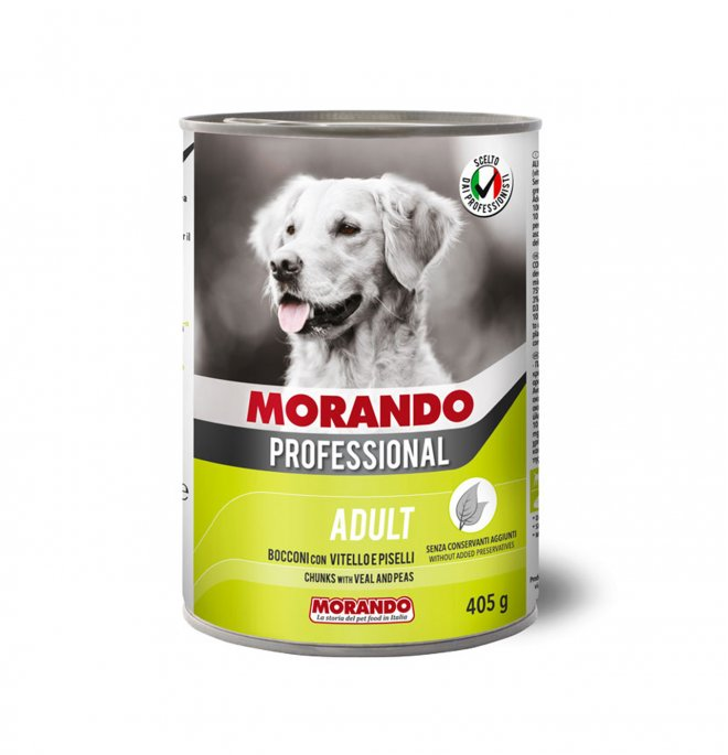 Morando miglior cane professional bocconi con vitello e piselli da 405 gr