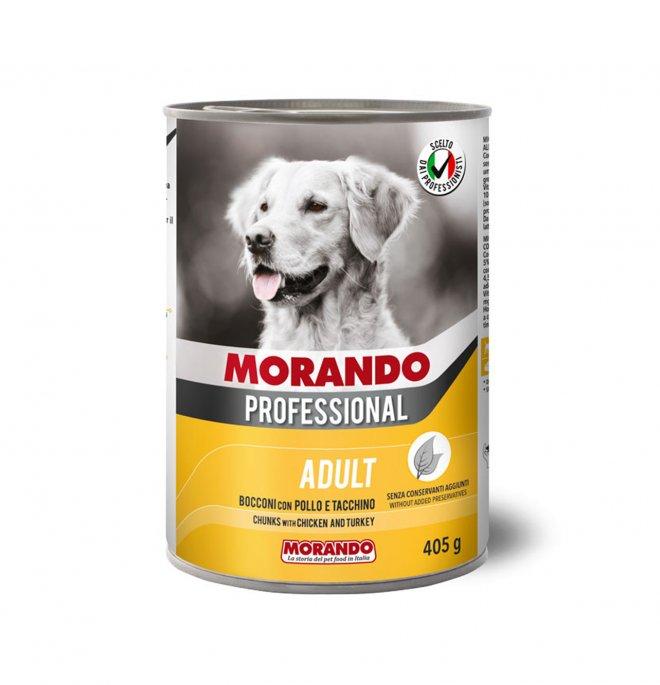 Morando miglior cane professional bocconi con pollo e tacchino da 405 gr in lattina