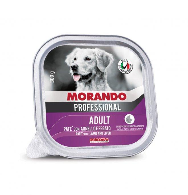 Morando miglior cane professional agnello e fegato da 300 gr in vaschetta