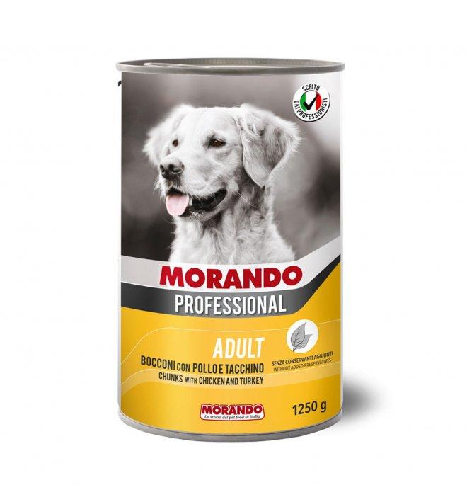 Morando miglior cane professional bocconi con pollo e tacchino da 1250 gr in lattina
