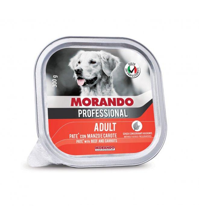 Morando miglior cane professional manzo e carote da 300 gr in vaschetta