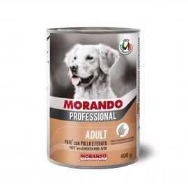 Morando miglior cane professional pate' pollo e fegato da 400 gr in lattina