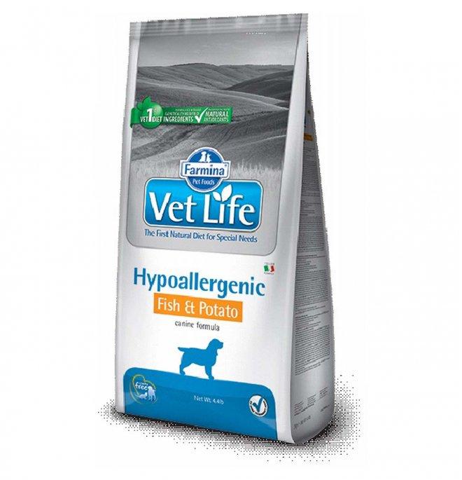 Farmina vet life cane hypoallergenic pesce & patate da 2 kg