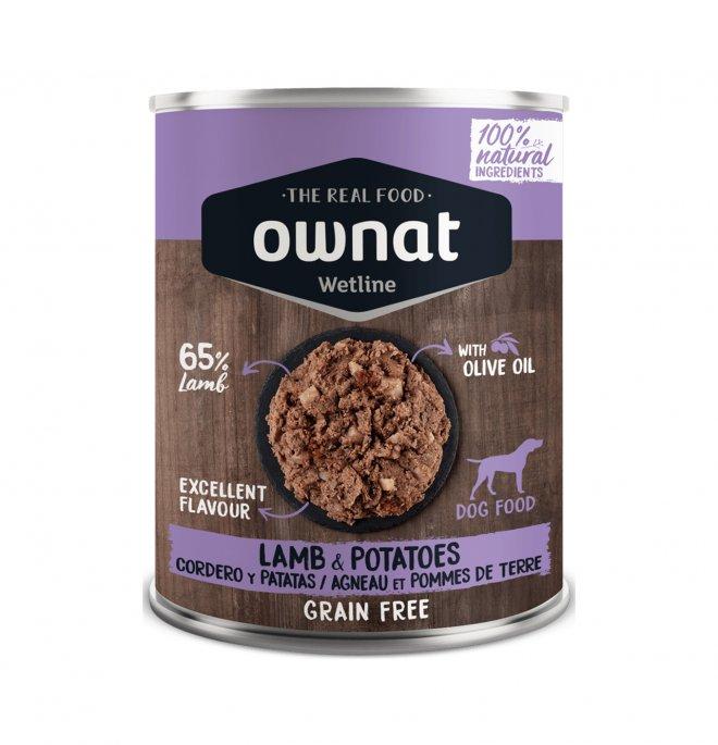 Ownat cane wetline grain free agnello patate da 400 gr in lattina