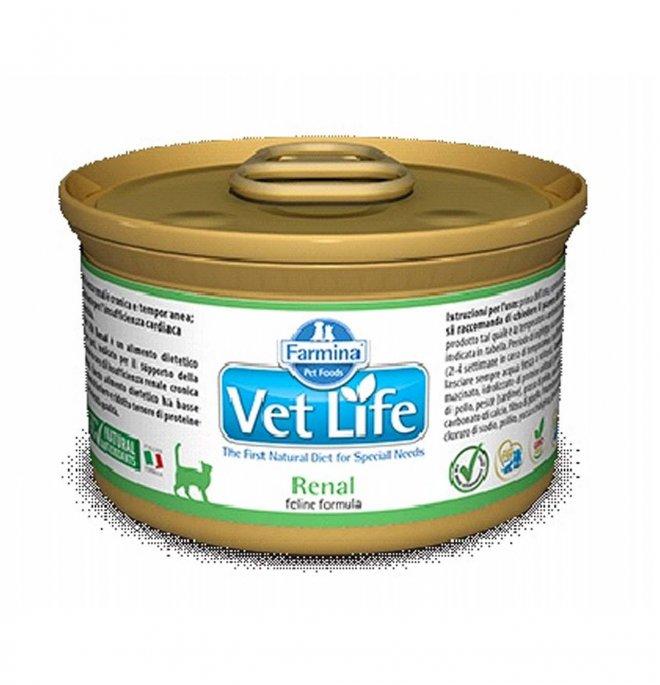 Farmina vet life gatto renal da 85 gr in lattina