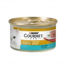 Purina gourmet gold gatto tortini al tonno da 85 gr in lattina