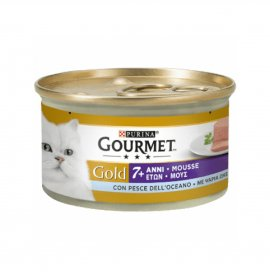 Purina gourmet gold gatto senior al pesce oceanico da 85 gr in lattina