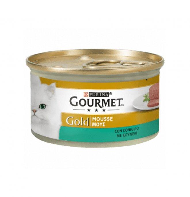 Purina gourmet gold gatto al coniglio da 85 gr in lattina