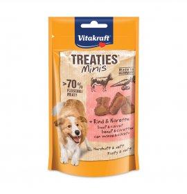 Vitakraft cane snack treaties minis con manzo e carote da 48 gr