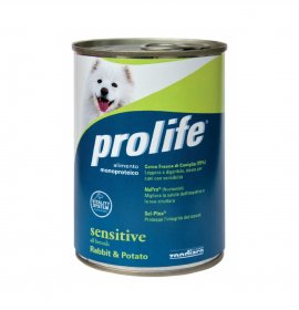 Prolife cane all breeds sensitive coniglio e patate da 400 gr in lattina