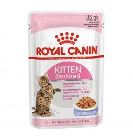 Royal canin gatto kitten sterilizzato jelly da 85 gr in busta