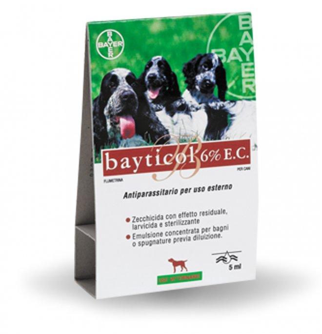 Bayer cane antiparassitario bayticol 6% e.c. da 5 ml