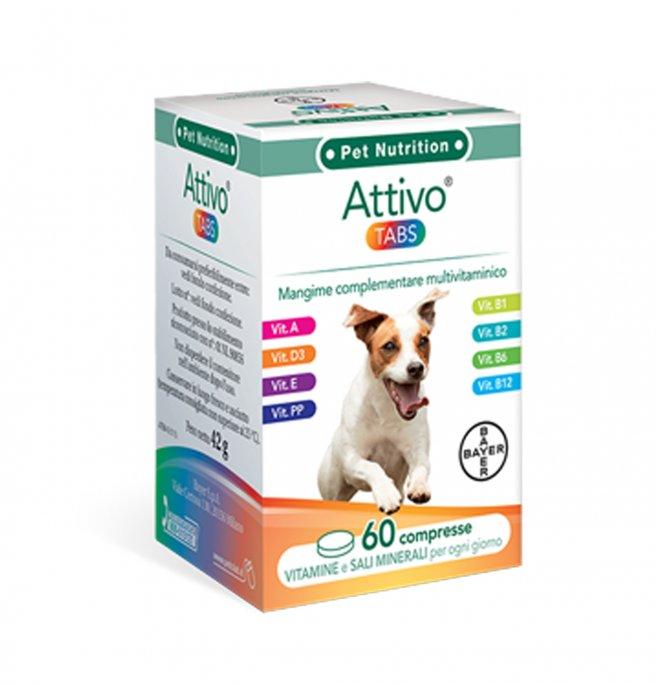 Bayer cane vitamine attivo tabs 60 compresse da 42 gr