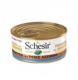 Agras schesir gatto al tonnetto con pesce azzurro in salsa naturale grain free da 70 gr in lattina