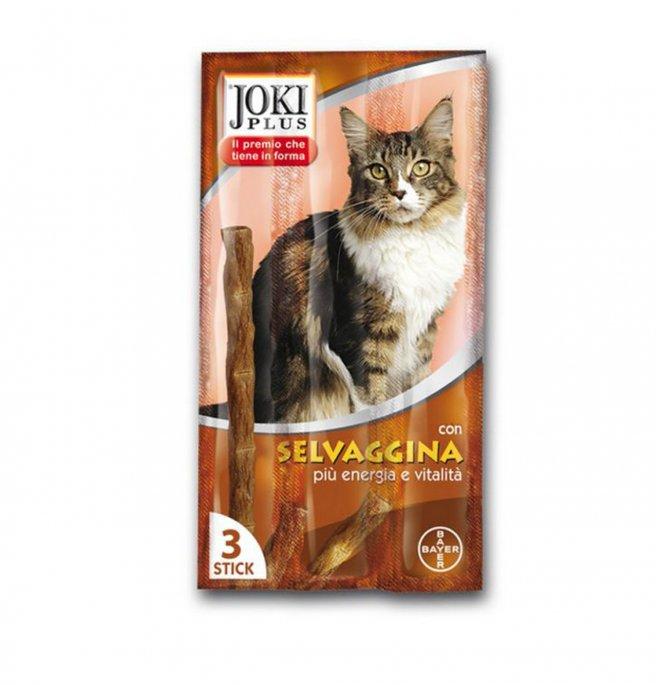 Bayer gatto snack joki plus alla selvaggina da 3 x 5 gr