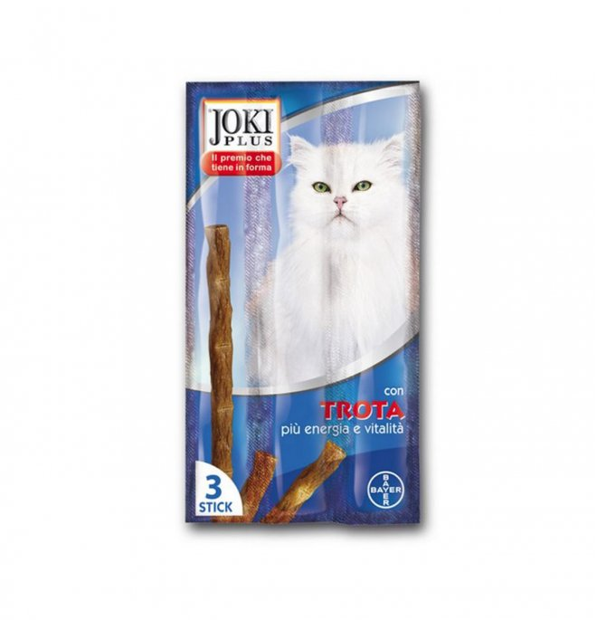 Bayer gatto snack joki plus alla trota da 3 x 5 gr