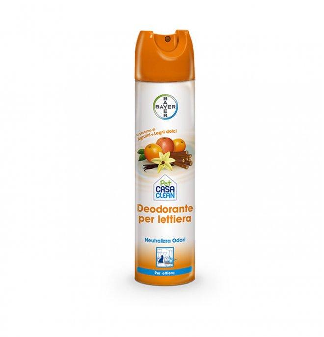 Bayer gatto deodorante lettiera agli agrumi neutralizza odori da 300 ml