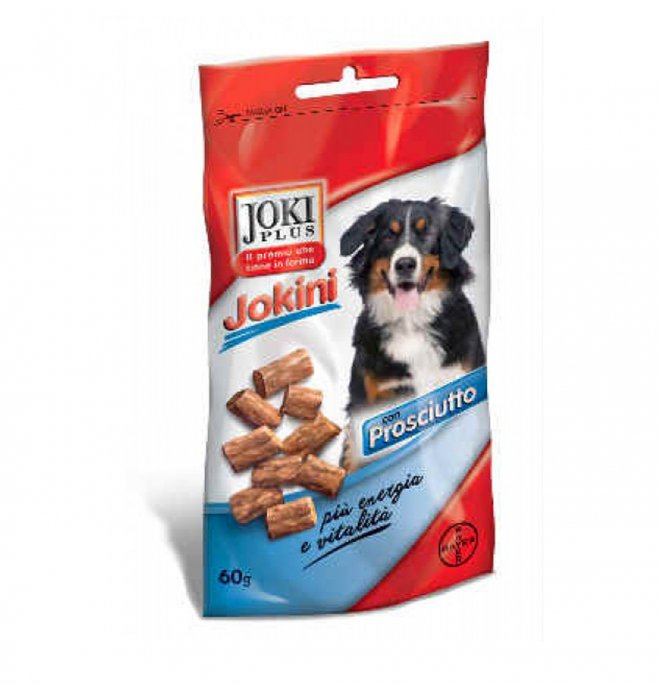 Bayer cane snack joki plus al prosciutto da 60 gr