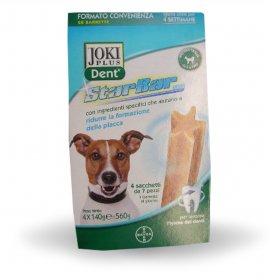 Bayer cane snack joki plus dent starbar megapack taglia piccola da 4 x 140 gr