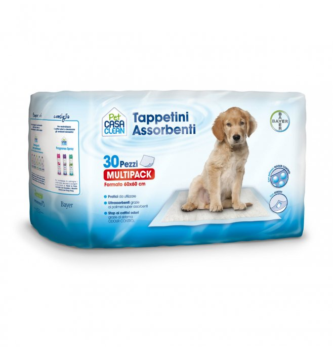 Bayer cane tappetini assorbenti 60 x 60 cm da 30 pezzi