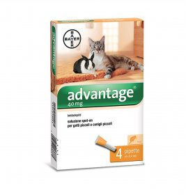 Bayer advantage spot-on 40 per gatti & conigli di peso inferiore 4 kg