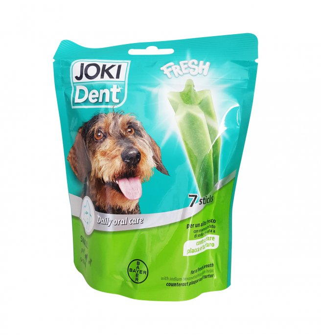 Bayer cane snack joki dent star bar taglia piccola all' eucalipto e al the' verde da 140 gr