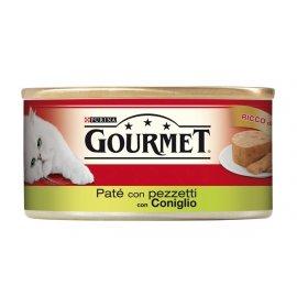 Purina gourmet gatto pate' con pezzetti di coniglio da 195 gr in lattina