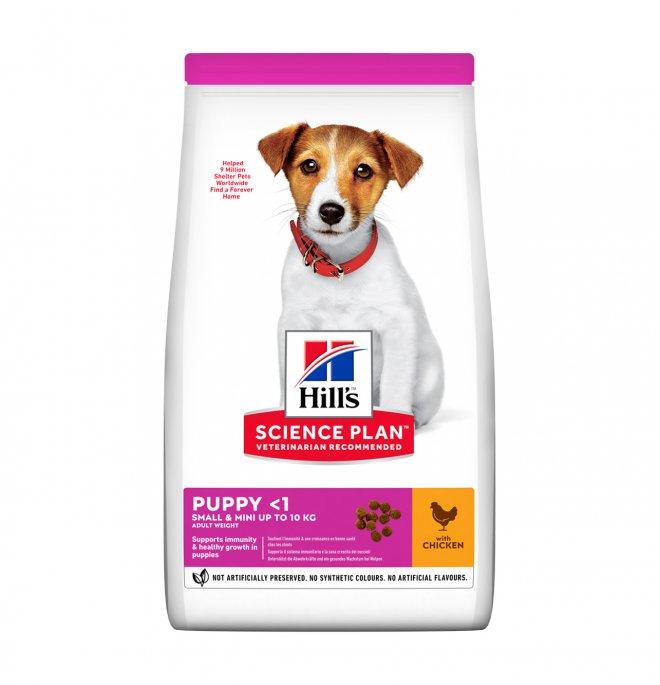 Hill's science plan cane puppy small & mini al pollo e tacchino da 1,5 kg