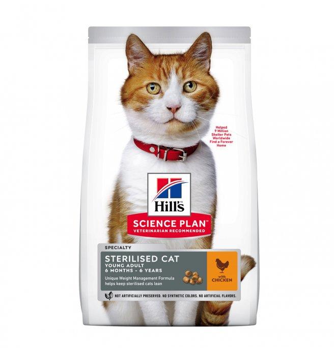 Hill's science plan gatto adult sterilizzato al pollo da 1,5 kg