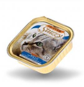 Agras mister stuzzy gatto kitten con pollo da 100 gr in vaschetta