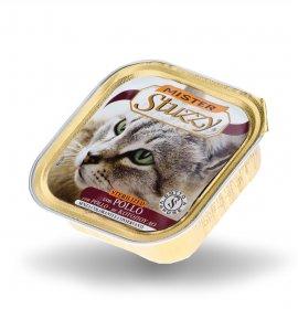 Agras mister stuzzy gatto sterilised con pollo da 100 gr in vaschetta