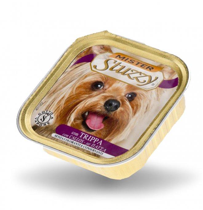 Agras mister stuzzy cane con trippa da 150 gr in vaschetta