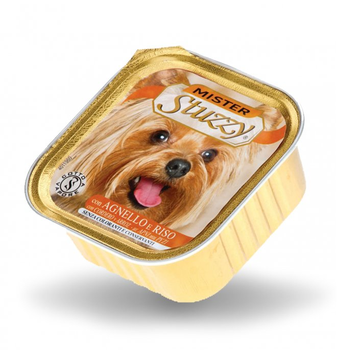 Agras mister stuzzy cane con agnello da 150 gr in vaschetta