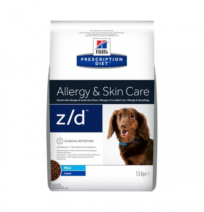 Hill's prescription diet cane mini z/d allergy & skin care 1,5 kg