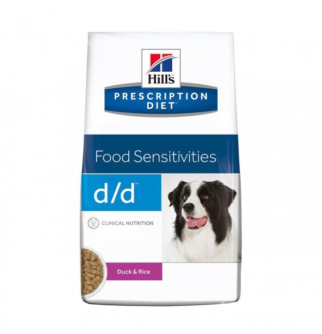 Hill's prescription diet cane d/d all' anatra e riso da 2 kg