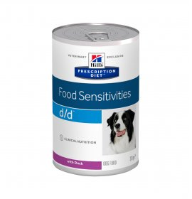 Hill's prescription diet cane d/d all' anatra da 370 gr in lattina