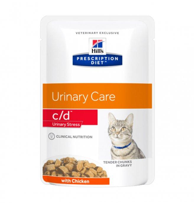 Hill's prescription diet gatto c/d urinary stress al pollo da 85 gr in busta