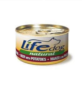 Lifepetcare cane life dog naturale manzo e patate da 90 gr in lattina